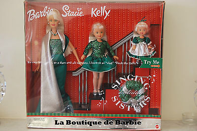 Singing Sisters Barbie, Stacie And Kelly Dolls, Mattel # 26260, 2000, Nrfb