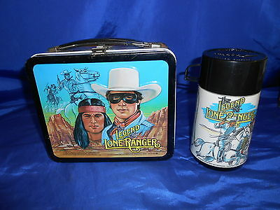 Legend of The Lone Ranger Lunchbox & Thermos Animated TV Series Aladdin 1980 EXC