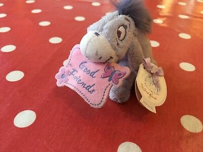 "Small Disney Good Friends Eeyore Stuffed Toy 4""x3"" Approx Tags Are Attached"
