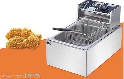 New 10L Commercial Electric Deep Fryer Frying Basket Chip Cooker Fry 2500W