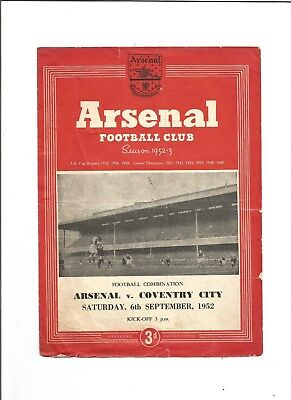 ARSENAL RES. v COVENTRY CITY RES. 1952/53