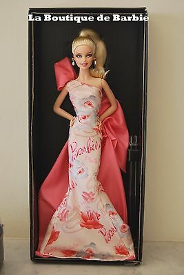 Rose Splendor Barbie Doll, Robert Best Designed, Avon Exclusive T4349, 2010 Nrfb