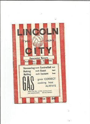 LINCOLN CITY v DONCASTER ROVERS 1946/47