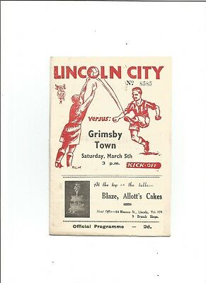LINCOLN CITY v GRIMSBY TOWN 1948/49