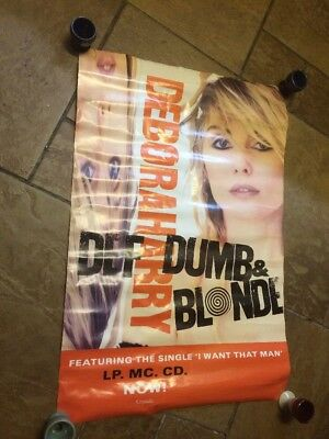Blondie Deborah Harry Promo Poster Def Dumb And Blonde I Want That Man 1989