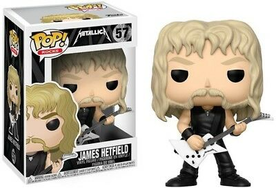 Metallica - James Hetfield - Funko Pop! Rocks: (2017, Toy NUEVO)