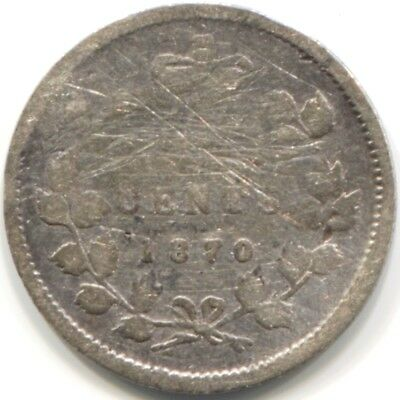 1870 CANADA SILVER FIVE CENTS Coin - FILLER