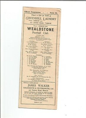 WEALDSTONE v LEYTONSTONE 1948/49 (F.A.A Cup Replay)