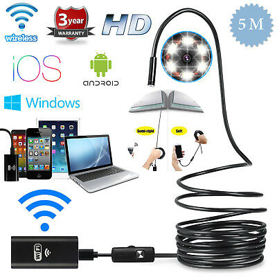 5m 6led WIFI Waterproof Endoscope Inspectioncamera 800mAh for Andriod Iphone IOS