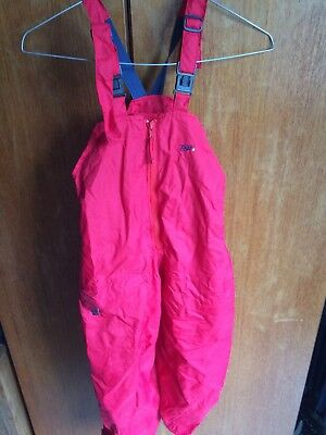 Togz Waterproof Trousers Age 6/7 Red Braces