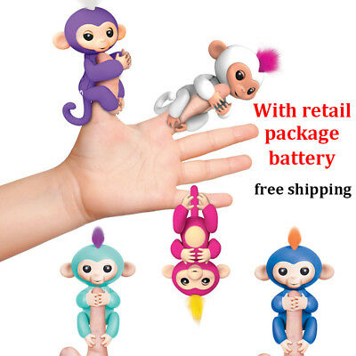 2017 New Fingerling Interactive Colorful Baby Monkeys Toys Fun TIBBERS