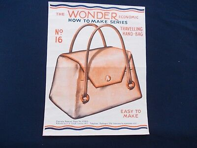 WW2 Home Front (1939-1945) Make do Travelling Hand Bag