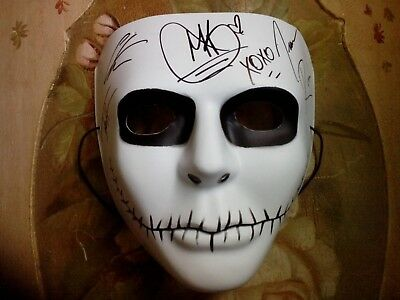 In This Moment Band Fully Autographed Mask Maria Brink Signed From Hellpop 2014