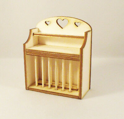Drying Plate Rack Kit Dolls House 1:12