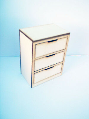 Modern Chest of Drawers Dolls House Furniture Kit 1:12th