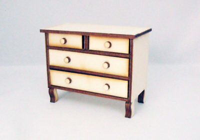 Chest of Drawers 1:12th Kit Dolls House