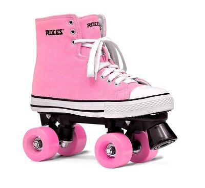 Roces Chuck Classic Roller Skates brake girls pink gift SIZE UK 1 rollers  OFFER