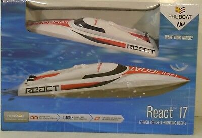 Pro Boat React 17 Self-Righting Deep-V Brushed:RTR PRB08024