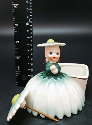 BEAUTIFUL Vintage Napco Flower Lady Figurine Vase #28