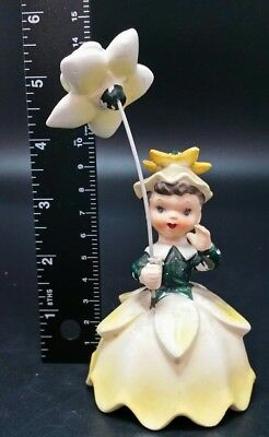 BEAUTIFUL Vintage Napco Flower Lady Figurine  #29
