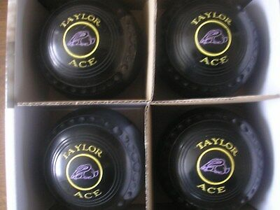 Set of Four Thomas Taylor Ace Size 2 Heavy Weight Black  Bowls