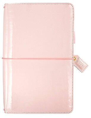 Websters Pages Color Crush Floral Traveler's Notebook New Patent Petal Pink