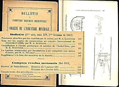 Ventilateurs De Mines - Engins De Manutention - Locomotives  - 1911