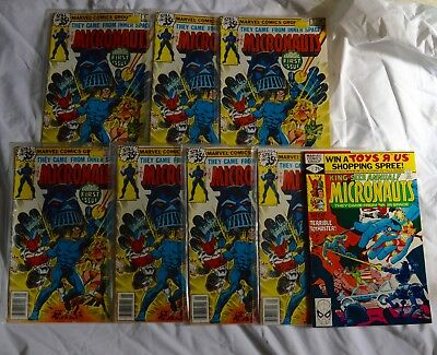 Lot Of 8 Micronauts Comic Books (Marvel, 1978) Bronze Age #1,#2✰