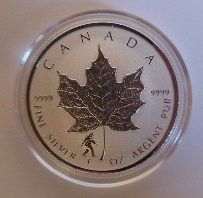 2016 1oz Silver Canadian Maple Leaf - Bigfoot Privy - In Capsule