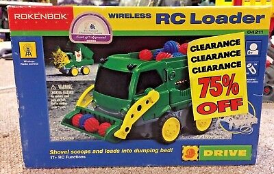 Rokenbok RC 2625 Power Green Loader Dumper Truck Vehicle New in box unopened NIB