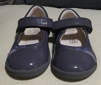 Girls Grey Clarks Shoes Size 5G