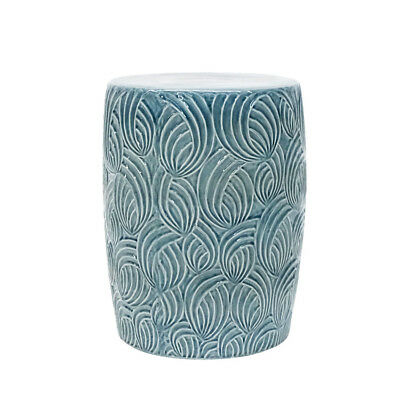 NEW Blue Delray Ceramic Stool Euro Living Side/End Tables