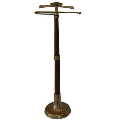 NEW Tan & Brass Phillip Valet Stand Euro Living Hall Trees & Umbrella Stands