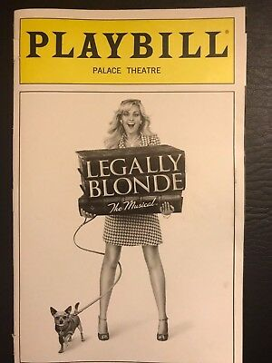 LEGALLY BLONDE Broadway Playbill 2008 - Laura Bell Bundy, Christian Borle, Orfeh