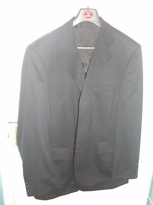 Burtons men's grey stripe suit 42R with matching trousers 34S with accessories