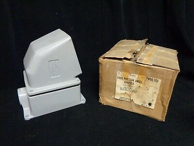 Hubbell * 4-Way Angle Adapter  With Back Box * Fw60/100 * Receptacles Or Inlets