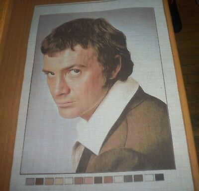LEWIS COLLINS THE PROFESSIONALS PRINTED CANVAS CROSS STITCH NEEDLEPOINT 35.5x26c