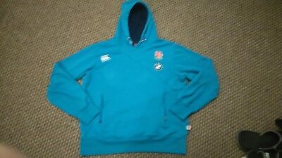 mens ENGLAND 7's RUGBY UNION HOODIE SIZE M VGC
