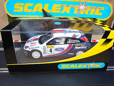 C2342 NEW BOXED SCALEXTRIC FORD FOCUS WRC No4 WITH WORKING LIGHTS