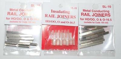 3 ASSORTED x PACKS OF PECO OO / HO CODE 100 METAL (2) INSULATED (1) SUIT HORNBY