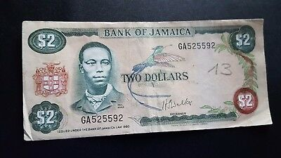 jamaica currency 2 dollars m945