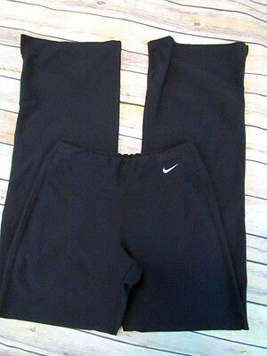 Nike Fit Dry XS Women's 22X30 Black Athletic Yoga Running Pants Stretch #H53
