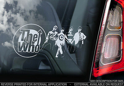 The Who - Car Window Sticker - Punk Rock Band Music Tommy Mod Decal Sign - V02
