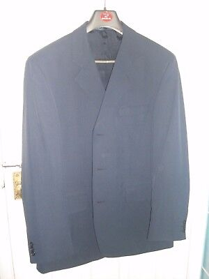 Burtons men's navy blue suit 42R with matching trousers 34S with accessories