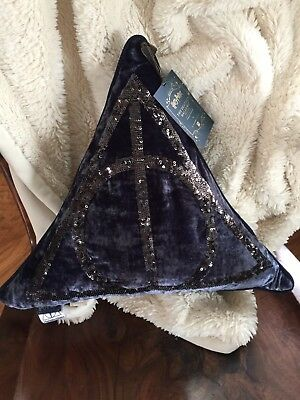 NWT Harry Potter Pottery Barn PBTeen The Deathly Hallows Pillow HTF