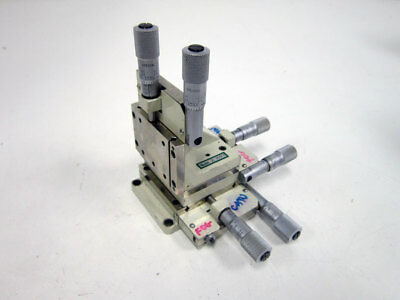 Line Tool Co. A Rhff Dual Micrometer Fine Focus Linear Stage Xyz 3-Axis A-Rhff