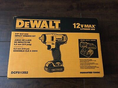 DEWALT DCF813S2 12-Volt Max 3/8-Inch Impact Wrench Kit New!!!