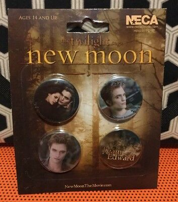 A Very  Cool Set Of Four NECA Twilight New Moon Pin Set