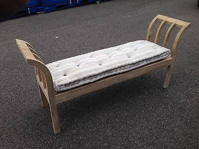 French 2 seater bench with cushion