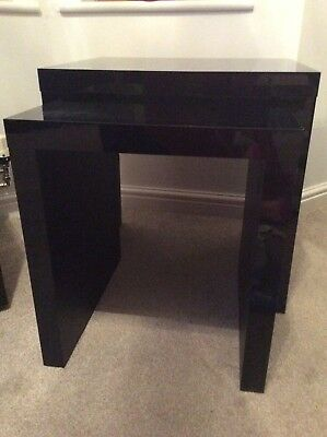 Next opus high gloss black nest of two tables